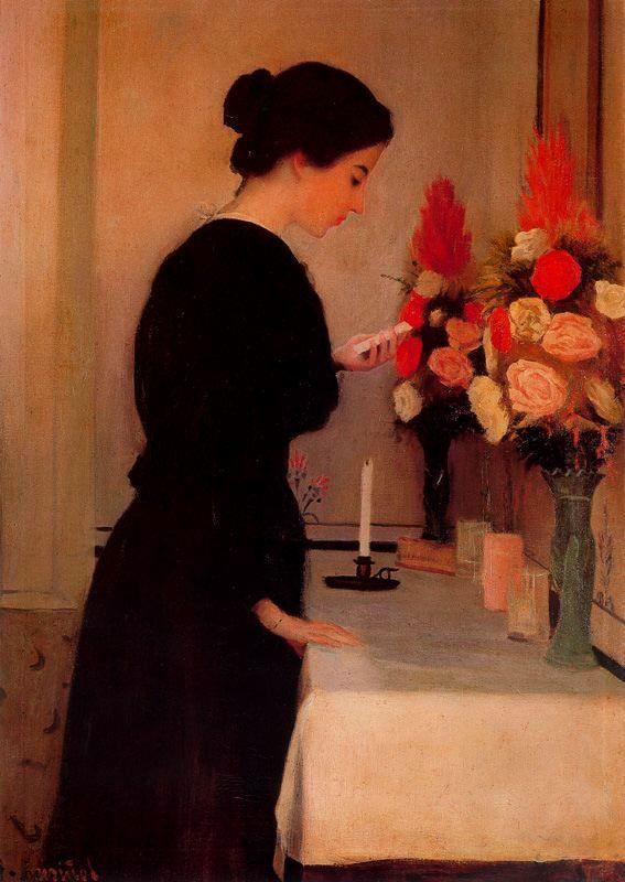 The Prayer ~ Santiago Rusiñol  (Rusinol) ~ (Spanish, 1861-1931)