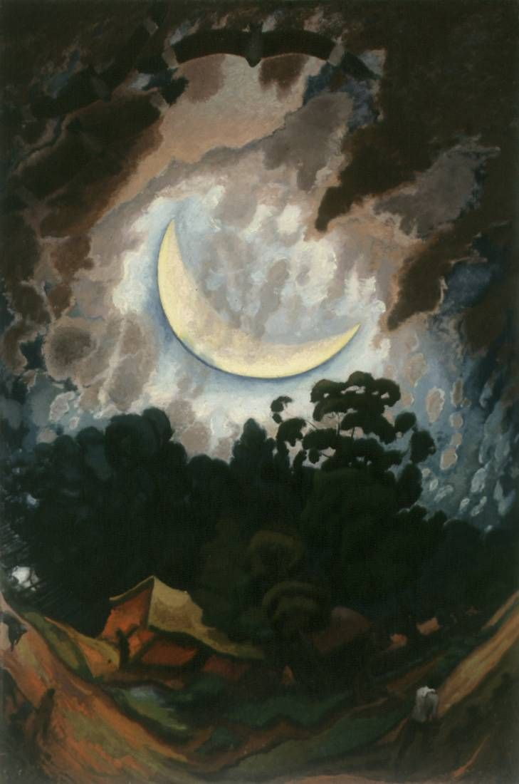 Luna nueva  Autor: José Cuneo (1887-1977) Realizado: 1933  Técnica: Óleo - Soporte: Tela  Medidas: 146 x 97 cm