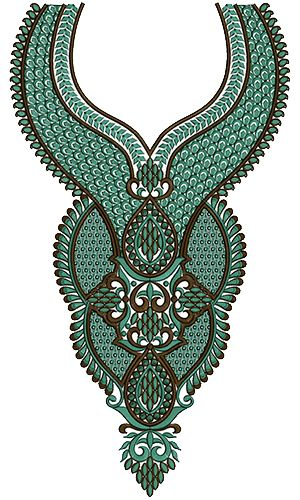 9152 Neck Embroidery Design