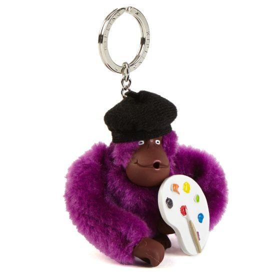 Whether you're an art major or just dabble in paints, you'll love this cheery monkey keychain! It's the perfect accessory for your bag of art supplies. #KiplingMakeHappy