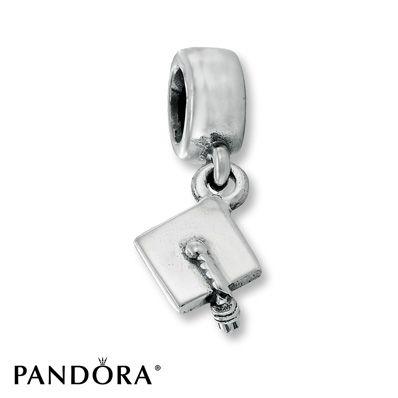Pandora Graduation Hat Dangle Charm