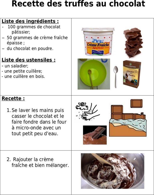 Site internet de l'école maternelle Danielle Casanova - Les truffes au chocolat