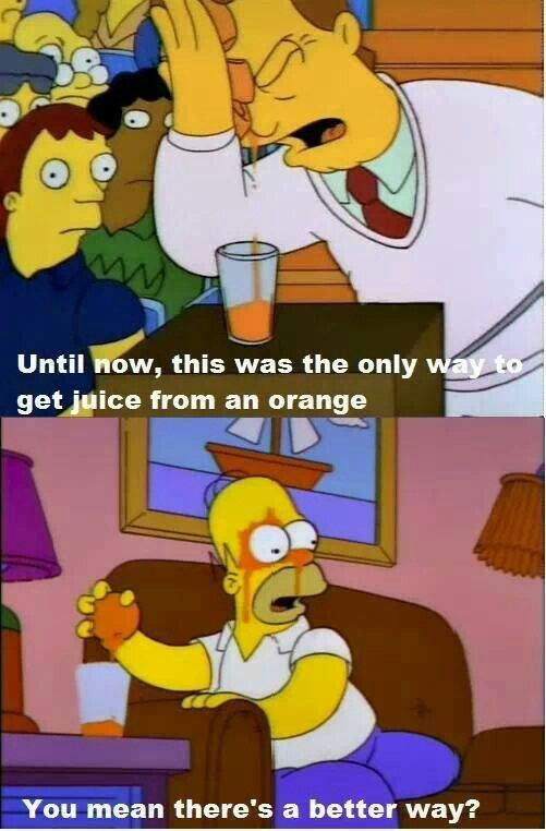 Until now this was the only way to get juice from an orange...