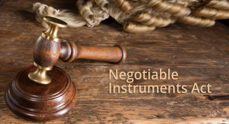 Negotiable Instruments (Amendment) Bill-2017[Read The Bill]