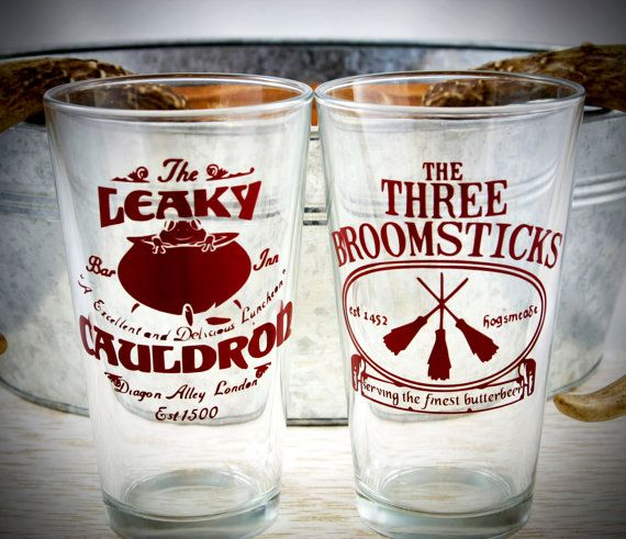 Harry Potter butterbeer pint glass set: the perfect gift for any Harry Potter fan!