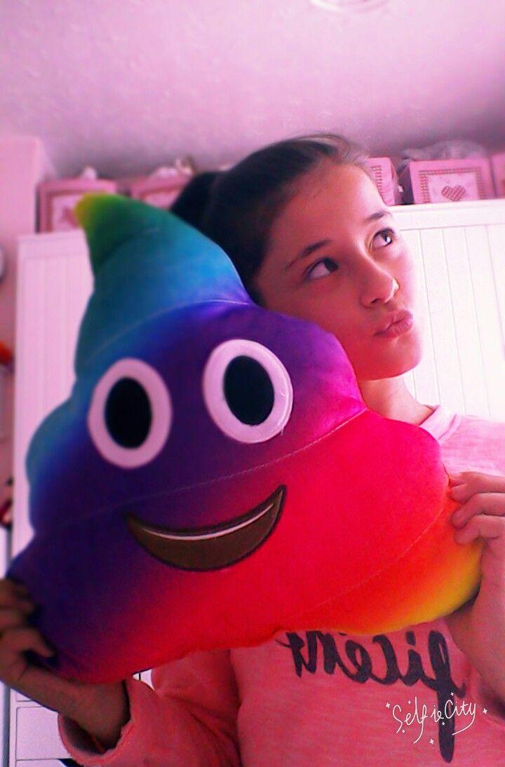 Emoji pillow / rainbow poop