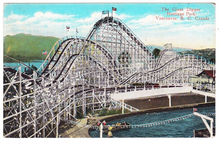 BC – VANCOUVER, Hastings Park Giant Dipper c.1929 PPC