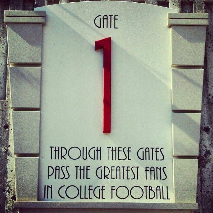 Though these gates... Nebraska Huskers