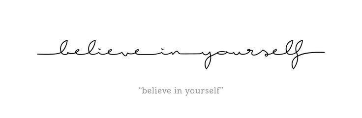 Italic Tattoo Design – Faith in Yourself – English – Rib Tattoo, Ribcag … – Tattoo – #