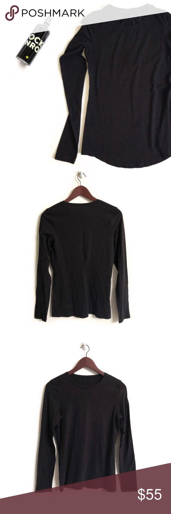 Lululemon Long Sleeve Lululemon Long Sleeve Top. Material unknown. Feels Cottony Soft. Great Quality. Normal Wear. Lint. Good Preowned Condition. No Size Dot or Tag. Matter Lululemon Logo Located on the Lower Back Side 🚫NO trades🚫 lululemon athletica Tops Tees - Long Sleeve