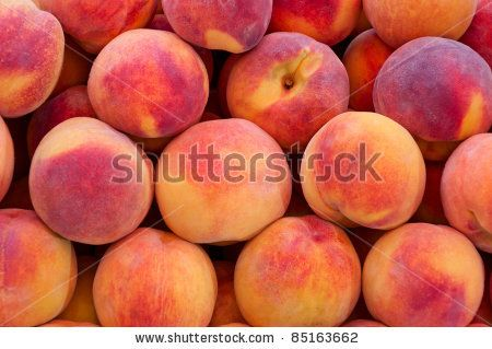 Peach close up. - stock photo