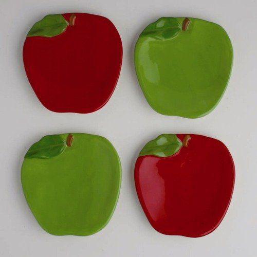 Apple Plates Apple Kitchen Decorkitchen Ideasappetizers