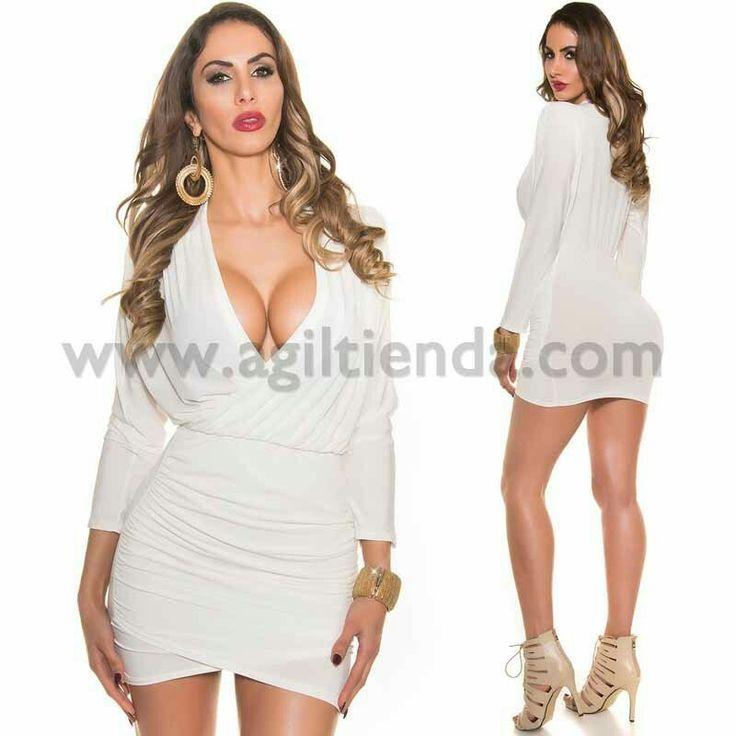 @Sexy #vestidocorto de #fiesta o #coctel #diseño #mangalarga #drapeado con llamativo #escote de pico y #falda ceñida tejido elastico que conjunta un #estilo #chic y #exclusivo que destaca la figura con #efecto s#ofisticado y #joven para todos tus #eventos . Encuentralo en #Venta de #Vestidos de http://www.agiltienda.com/es/home/2448-vestido-drapeado-escote-sexy.html #shop #online #taradell @agiltienda.es