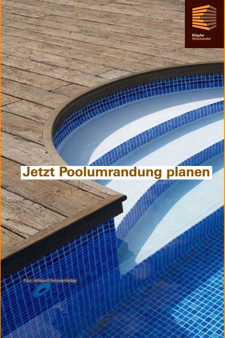 Poolumrandung selber bauen   Pool umrandung, Pool, Poolumrandung holz