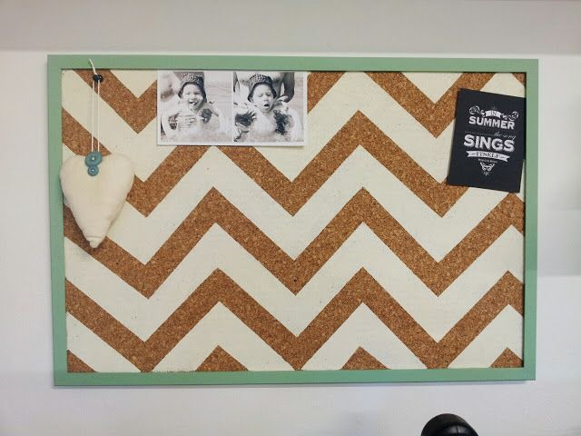 Chevron Cork Board -plain jane...definitely trying this for my dorm