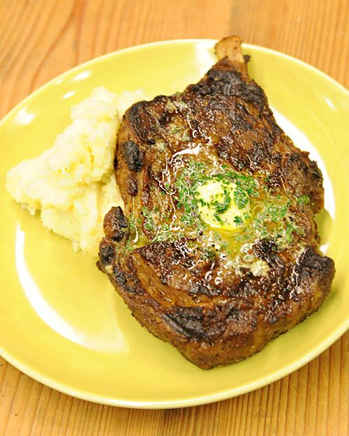 Dry-Aged Rib-Eye Steaks with Emeril's Maitre D'Hotel Butter - Martha Stewart Recipes