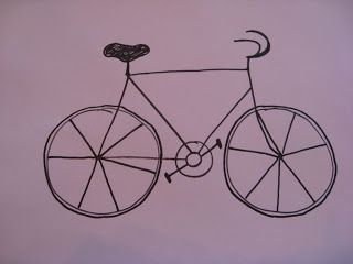 Art with Mrs Smith - step by step How to draw a bike