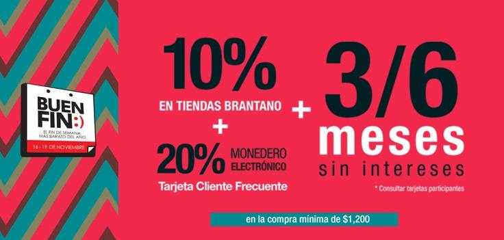 Como sabemos que siempre quieres estar a la #moda este #BuenFin aprovecha, en tiendas de línea, nuestras promociones. 3 MSI con American Express, 3 y 6 MSI con Banamex, Ixe, Scotiabank, Santander, Afirme, Liverpool, Invex, HSBC, Mifel, Banjercito, Banorte, Banco del Bajío, Inbursa, Banregio, Banco Ahorro Famsa e Itau Card. #moda #promociones #MesesSinIntereses #descuento #monedero #ClienteFrecuente #chic #estilo #Brantano #zapatos #accesorios #trendy