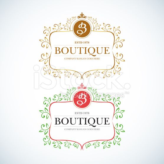 Boutique Luxury Vintage, Retro logo. royalty-free stock vector art
