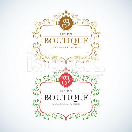 Boutique Luxury Vintage, Retro logo. royalty-free stock vector art