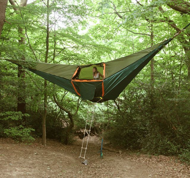 hanging tent  u003d tentsile  bines the versatility and  fort of a hammock with usable space and security of a camping tent  suspended tent will protect you     142 best invention images on pinterest   banana split bananas and      rh   pinterest