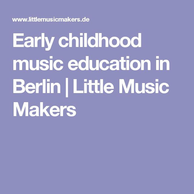 Early childhood music education in Berlin | Little Music Makers