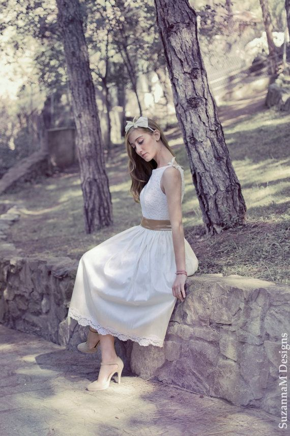 Ivory 50s Wedding Dress Original 50s Style by SuzannaMDesigns, €485.00