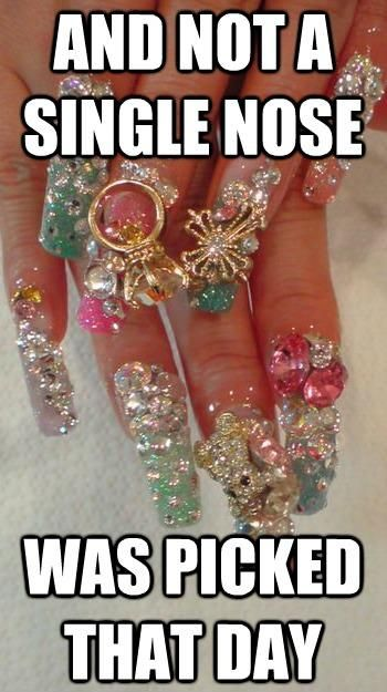 lolNails Art,  Dust Jackets, Funny Pictures, Nails Tech, Fashion Fail,  Dust Covers, Book Jackets, Fingers Nails,  Dust Wrappers