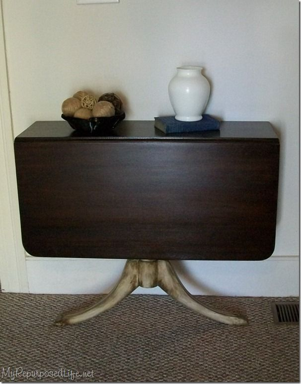 DINING TABLE INTO CONSOLE TABLE Ideas for repurposing an antique dinner table - Google Search