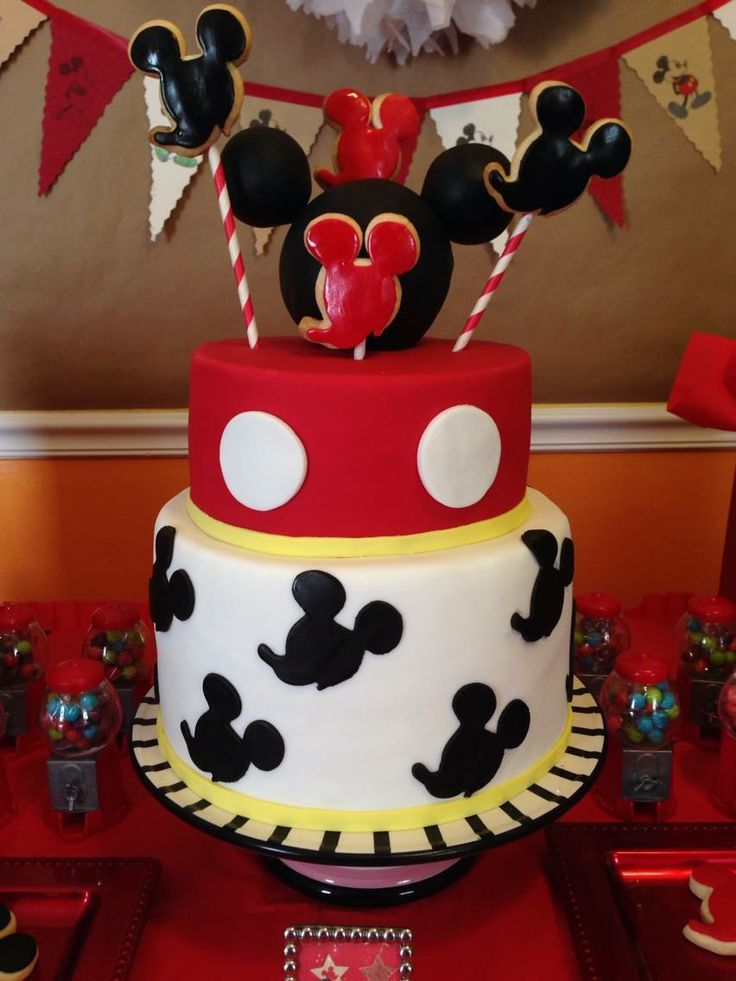 Vintage Mickey Mouse Cake