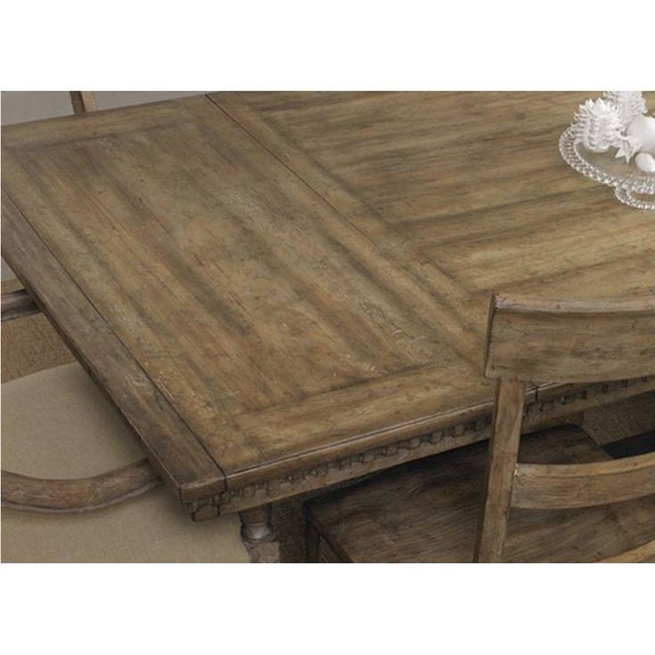 Hooker Furniture Sorrella Rectangular Trestle Dining Table - Antique Taupe - Dining Tables at Hayneedle