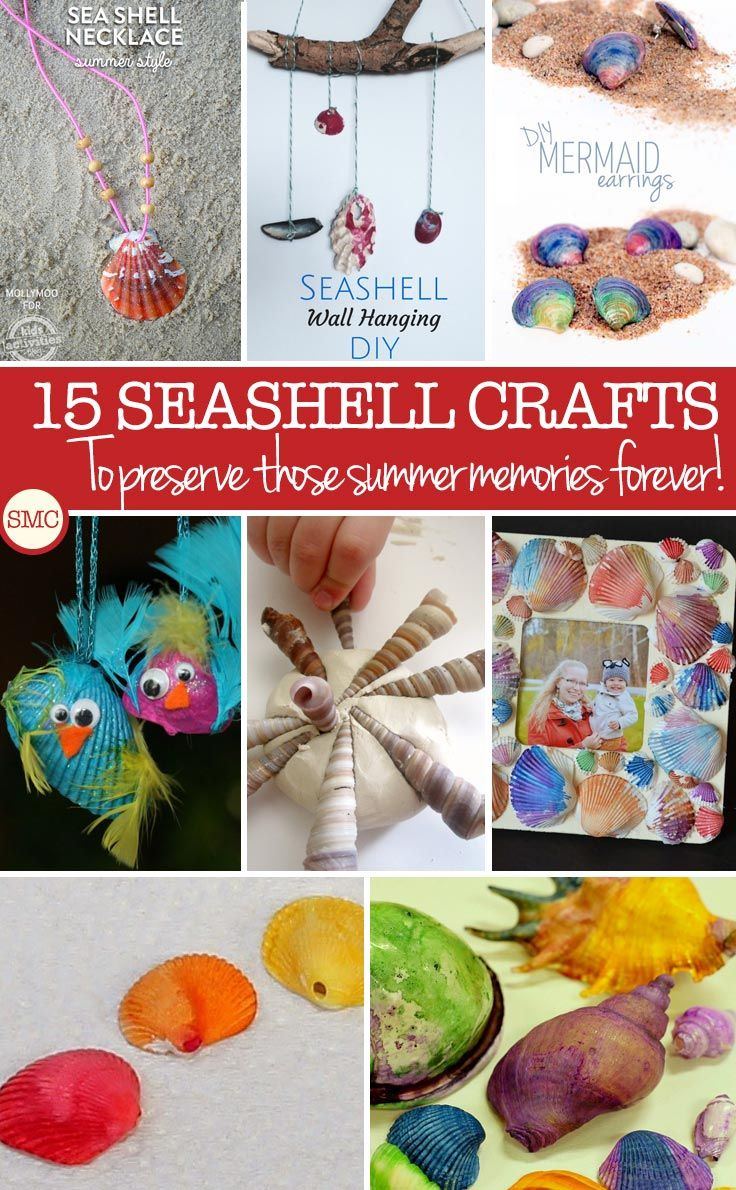 15 Seashell Crafts for Kids – Preserve Those Summer Memories Forever!
