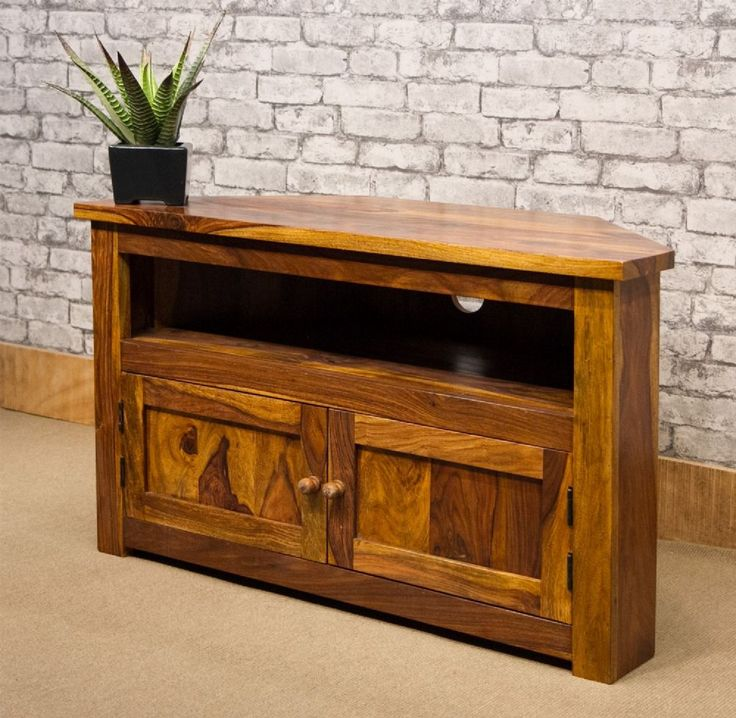 Ironbridge style solid Indian Rosewood Sheesham 100cm corner TV stand Approximate measurements 100cm wide x 50cm deep x 60cm high This TV Stand comes