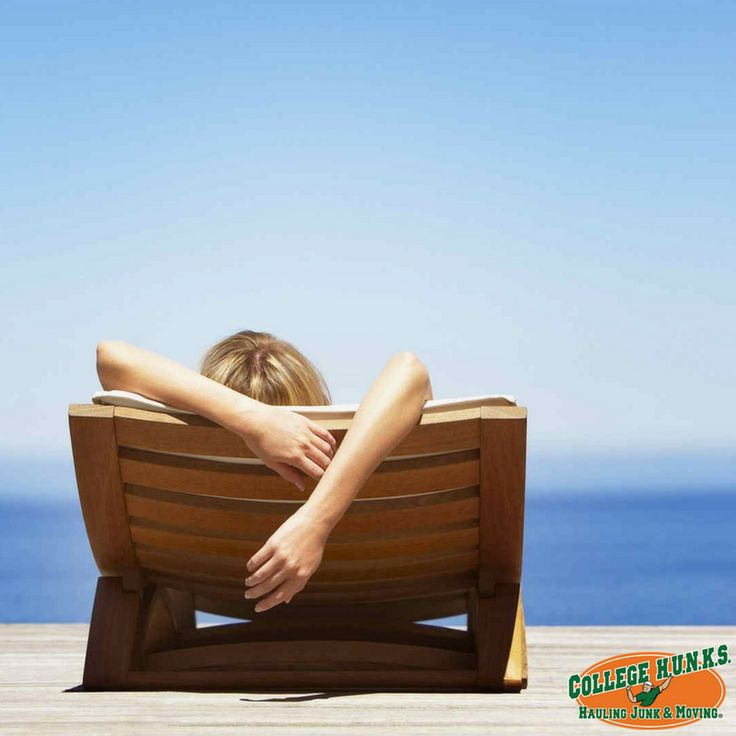 Today is #NationalRelaxationDay! Sit back, relax, and enjoy a beach day while our HUNKS handle all of your moving and junk removal needs.