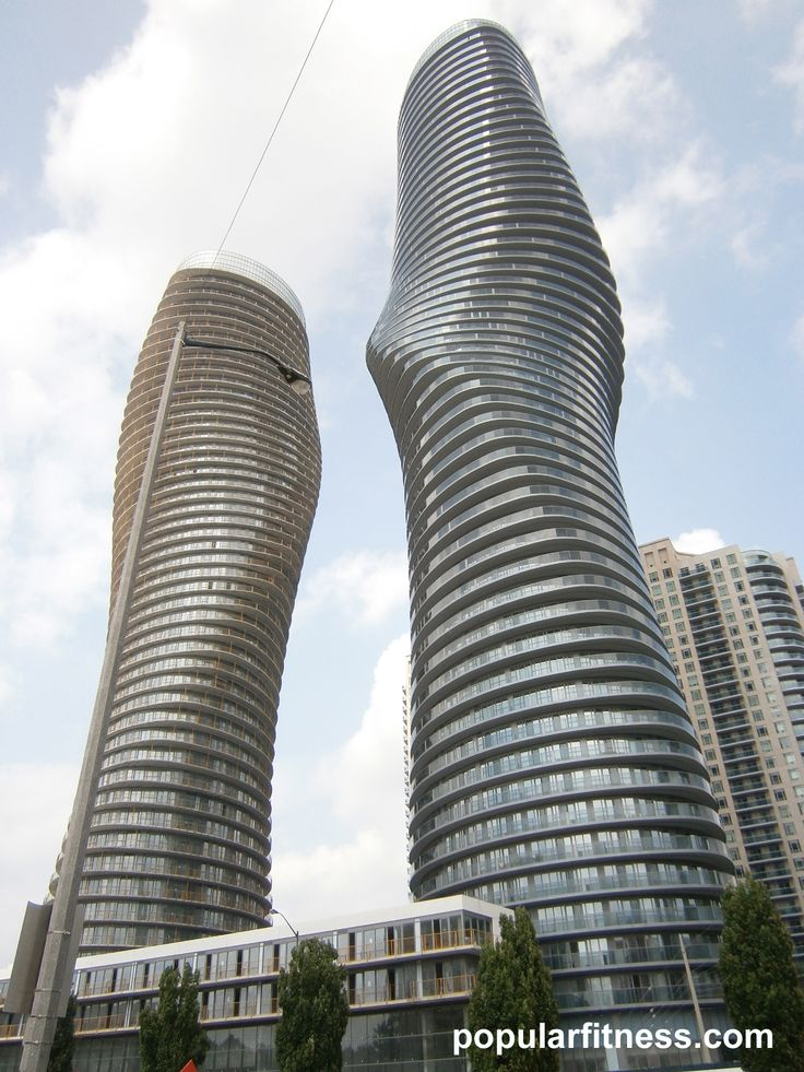 Marilyn Monroe condos in Mississauga. Residential architecture that stands out and is creative, well-designed.