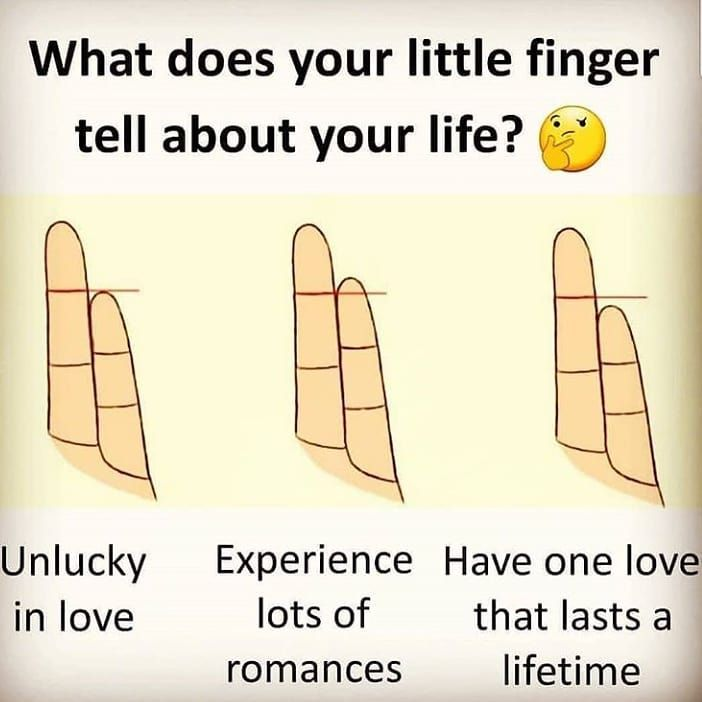 Image may contain: text that says 'What does your little finger tell about  your life? Unlucky Experience Have one love i… | Funny fun facts, Funny  facts, Love facts