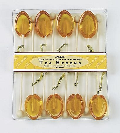 tea spoons with honey - stir stick