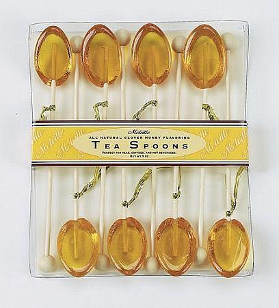 tea spoons with honey - stir stick
