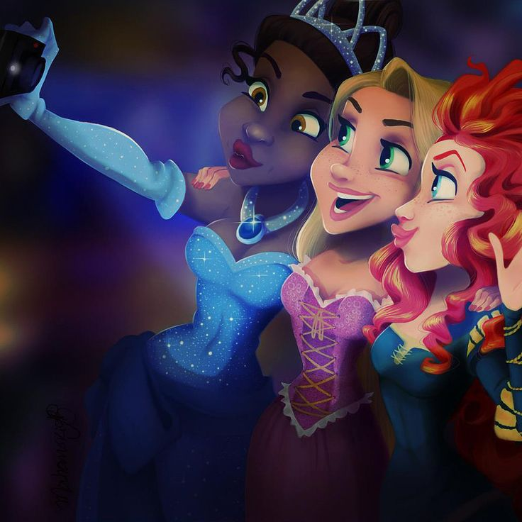 Even Disney Princesses Take Selfies: We never cease to be fascinated and amazed by Disney-themed art, and the latest trend within the trend has involved Disney characters snapping selfies.