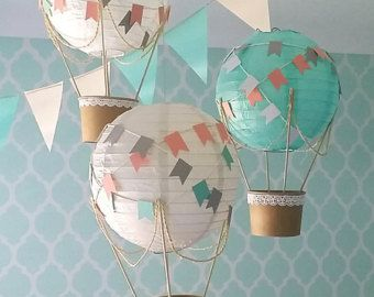 NEW Whimsical Hot Air Balloon decoration DIY Kit by mamamaonline