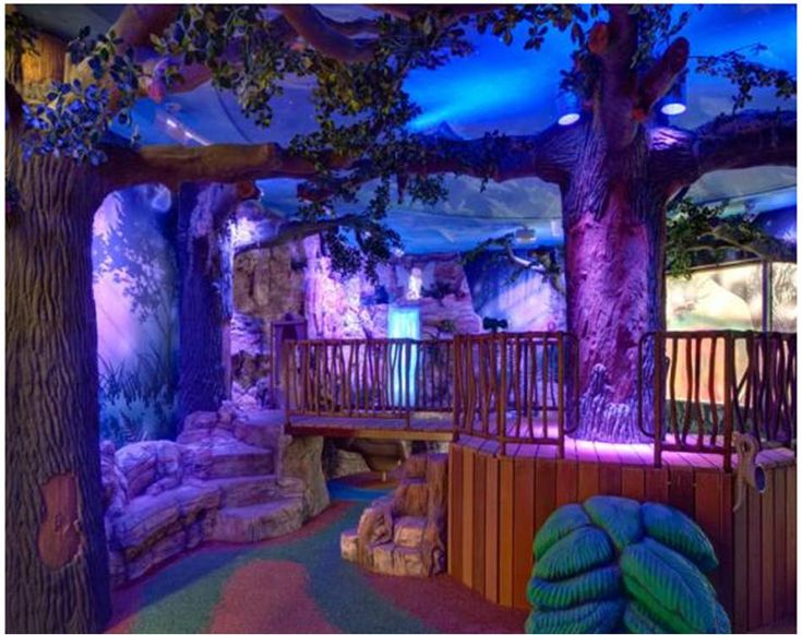 Multi-sensory play environment, known as The Enchanted Forest at El Paso Children's Hospital.
