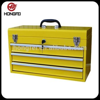 Portable 3 drawer US general tool box parts with locks for garage storage systems