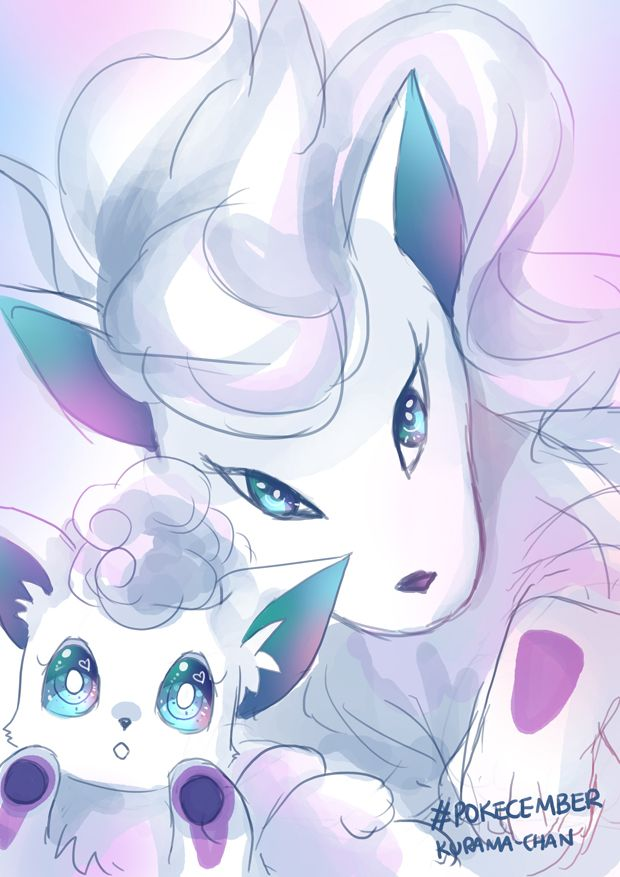 -- Pokecember : Vulpix and Ninetales Alola form -- by Kurama-chan