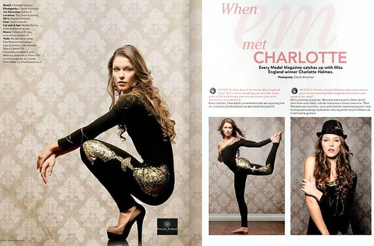 Miss England 2012 Charlotte Holmes indossa abito Danila Dubuà e scarpe Di Leo