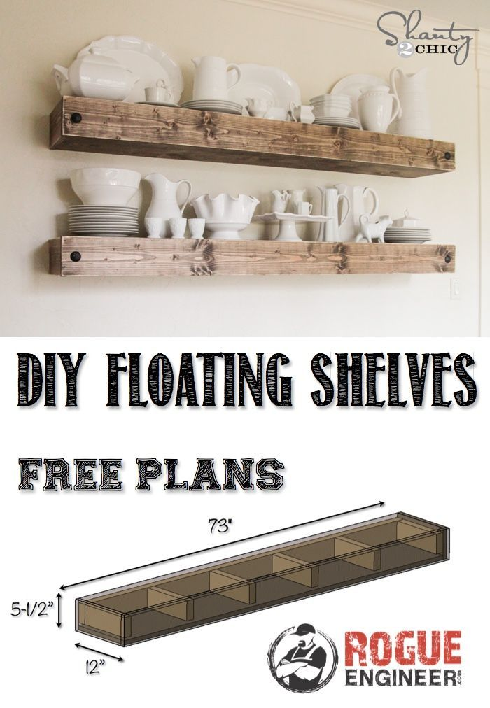 DIY Floating Shelves | Free Plan | Rogue Engineer