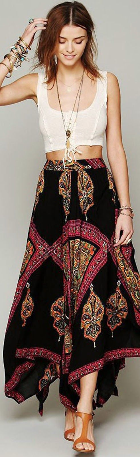 Free People Heart Of Gold Maxi Skirt