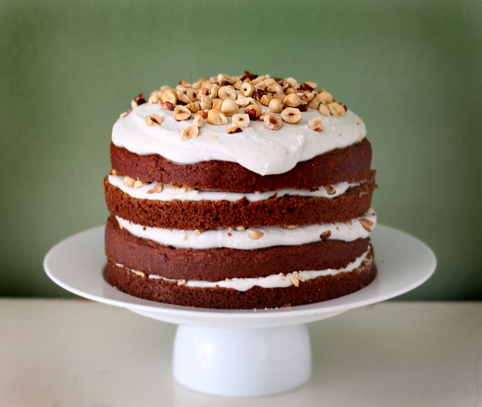 Happy Birthday to Me! Pumpkin Spice Cake with Coconut Vanilla Icing and Roasted Hazelnuts | My New Roots