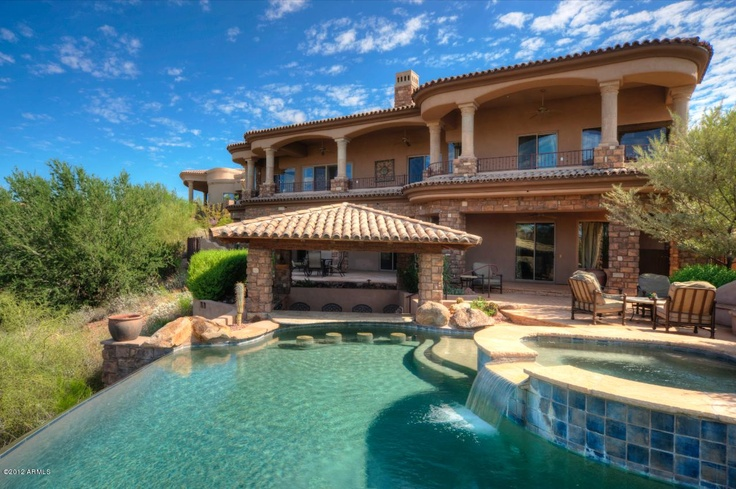 Swim-up bar = perfect home for parties [Photo of 9840 North Fireridge Trail, Fountain Hills AZ 85268 on ZipRealty]