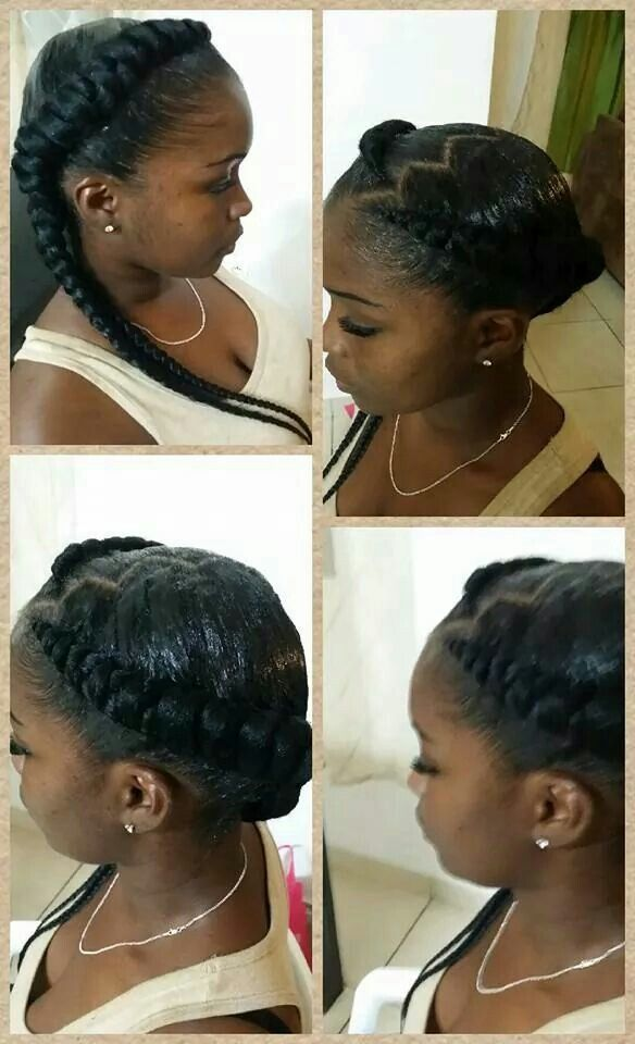 Jumbo French Braids Two Rows | Short Hairstyle 2013