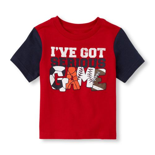 Christmas 2015 gift for our grandson. Serious game graphic tee - Firecrackr